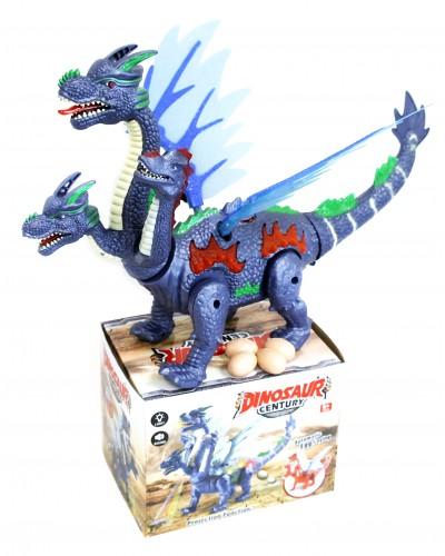 Интерактивное животное 906-2038 динозавр, батар., свет, звук, в коробке 22*17*16см