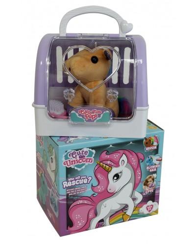 Мягкая игрушка DR5010 Единорог в переноске, в коробке 19*16,5*14см