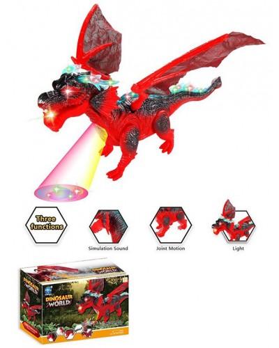 Животное на р/у 9919 Дракон, пульт, свет, звук, проектор, в коробке