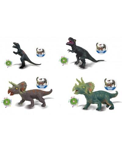 Животные SDH359-65/66/67/68  4 микс, динозавры, резиновые с силиконовым наполнителем, звук-ры