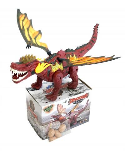 Интерактивное животное 906-2033 динозавр, батар., свет, звук, в коробке 22*14*16см