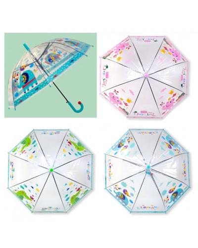 Зонт UM5266 прозрачный, 3 вида 65 см