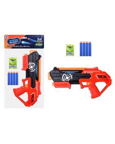 Оружие 9000-2 помповое, в компл присоски и вод.пули, в пакете 36*18,5см