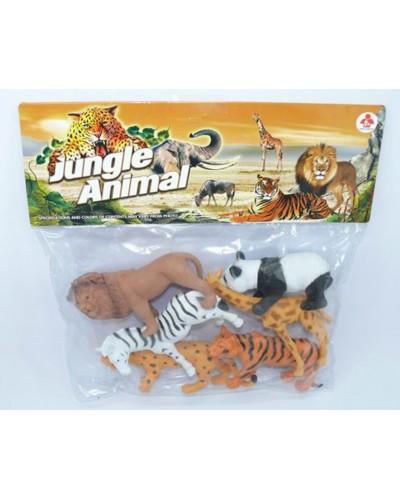 Животные 2A263 дикие, 6 видов, в пакете 32,5*28,5*3см