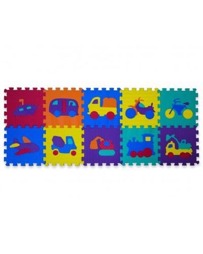 Пазлы фомовые рифленые EVA1912  10 деталей, в пленке  31*31*10 см