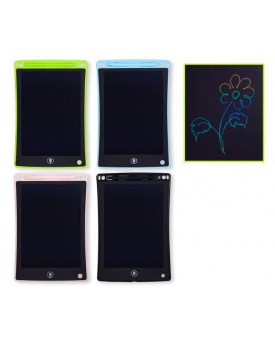 "Планшет LCD2582 4вида, многоцветный, размер 8,5"", ручка, кнопка удаления, батар., в кор.16*1*23,5с"