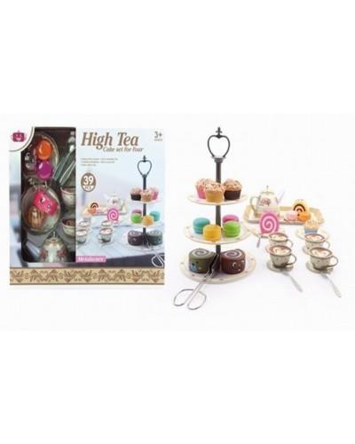 Набор посуды 555-CH027 десерты, чайник, чашечки, подставка, в кор. 32,5*27*13 см