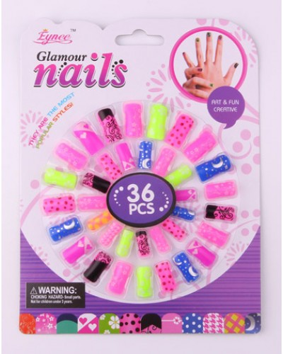Аксессуары для девочек C3287  ногти - 36 шт., на планшетке 20.5*15.5*1 см