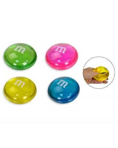 Лизун GM171014 M&M 4 цвета, 7,5 см, 12шт в боксе, 32*24*4,5см /цена за шт/