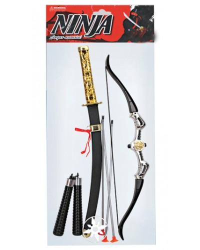 Набор 713 лук, стрелы, меч, в пакете 64*15*4см