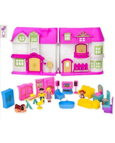 Домик KDL39-31 куколки, мебель, аксессуары, в кор. 70*6,5*44см