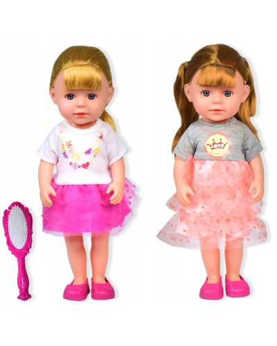 Кукла  99002 2 вида, расческа, в кор. 22*10,5*39 см