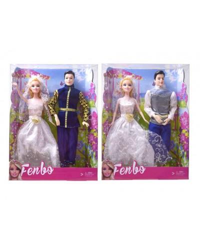 """Кукла """"Жених и невеста"""" FB017-1/2  2 вида, кен шарнирный, в кор. 32*6*24 см"""
