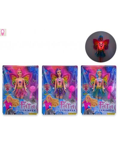"Кукла ""Фея"" LY-2608 батар, 3 вида, свет, расческа, в кор. 33*24.5*5cm"