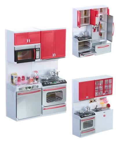 """Кухня """"Маленькая хозяйка"""" 2139/8/7  3 вида, бат., свет, звук, газ. плита, мебель, в кор. 35*27*9,5см"""
