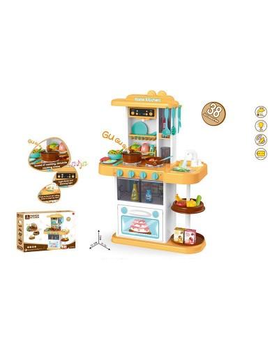 Набор Кухня 889-153/154 свет, звук, течет вода, посуда, продукты, в коробке 59,5*16*44 см