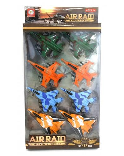 Набор металл. самолетов 399-254D  8 шт. в наборе, в кор. 34*21*5 см