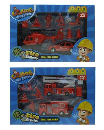 Набор транспорта TH-H047 (1512646) Пожарные, 3 вида, в коробке 28,5*5,5*19,5см