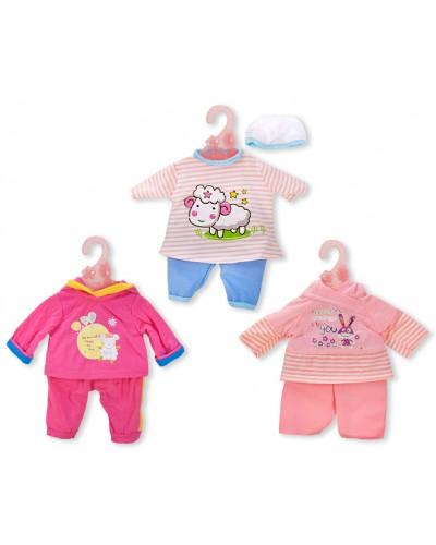 Одежда для пупса DBJ-486/493/499  3 вида, на вешалке, в пакете 22*28см
