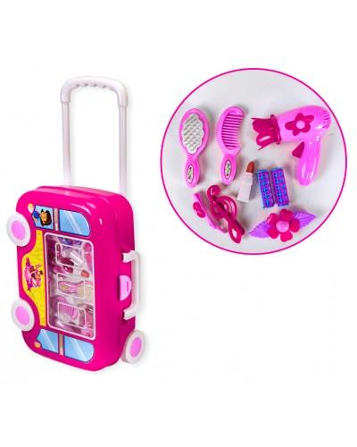 Парикмахерский набор RX2000-7 фен, расч, чемодан на колесиках, аксесс, в кор. 32*12*23см