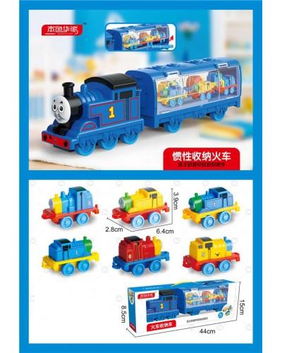 Поезд инерц. 2905 р-р игрушки 6,4*3,9*2,8см,  в кор.