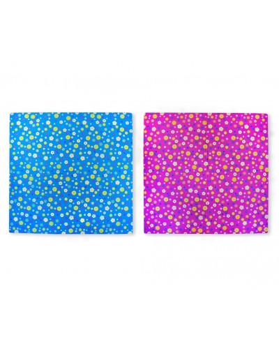 Фомовые пазлы EVA1652 ромашки, 2 цвета, 4 листа 60*60*1см, 1 лист делится на 4 по 30см