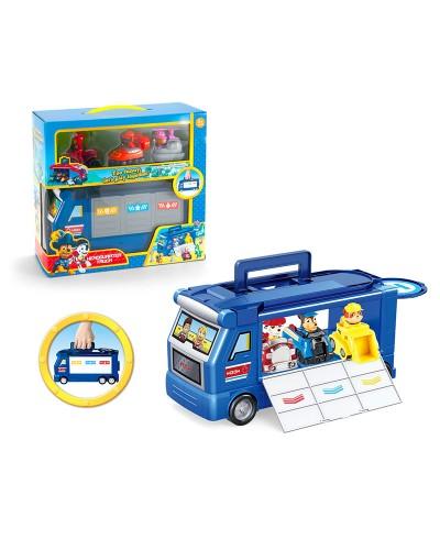 Игровой набор G2029 трейлер, 3 машинки с героями, в коробке 29,5*27*12,5см