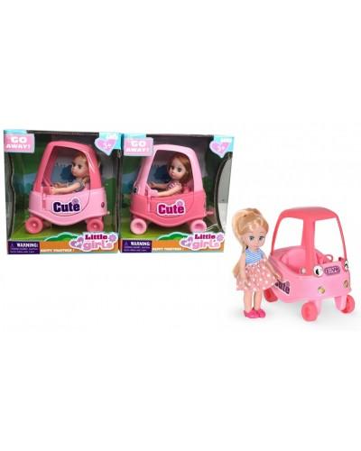 Кукла маленькая 63025  2 вида, в машине, акс., в кор. 20*18*11см