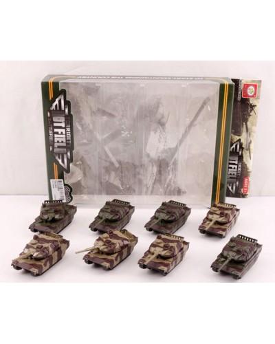 Набор металл. танков 399-266D 8 шт в наборе, в кор. 28*20*5 см