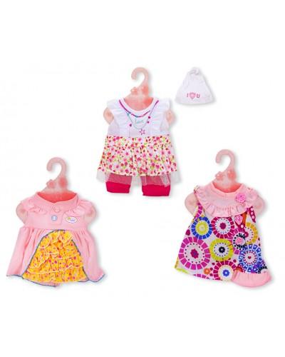Одежда для пупса  DBJ-438/441/459  3 вида, на вешалке, в пакете 22*28см