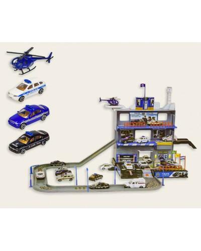 Паркинг 92145 (1480935) 3авто+вертолет, металл, в коробке 53,5*9,5*36,5