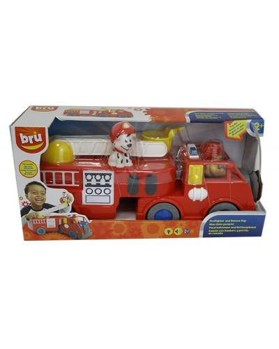 Пожарная машина батар. AD14474 свет, звук, в кор. 39,5*12,5*19см