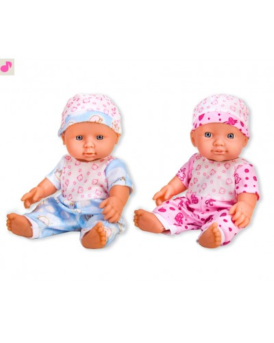 Пупс QH12-37 2 вида, 6 звуков, пупс 28см, размер куклы, в пакете 13,5*30см