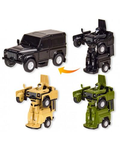 Трансформер 62010 cвободные поворотные колеса, быстрая трансформация из машины в робота, 3цв.