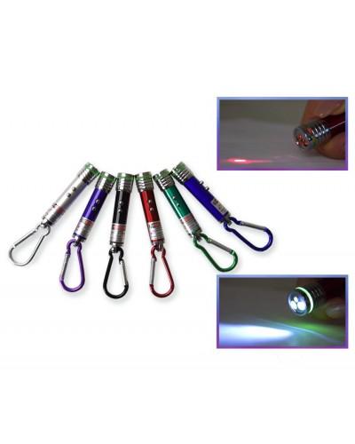 Фонарик лазерный CLR809, 3 режима, 24шт в боксе 16*11*7,5см