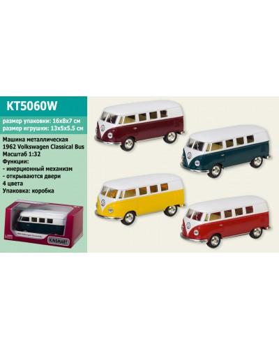 """Машина металл. """"KINSMART"""" KT5060W """"Volkswagen Classical Bus"""", в коробке 16*8,5*7,5см"""