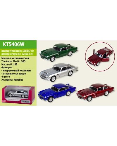 "Машина металл. ""KINSMART"" KT5406W ""Aston Martin DB5"", в коробке 16*8*7см"