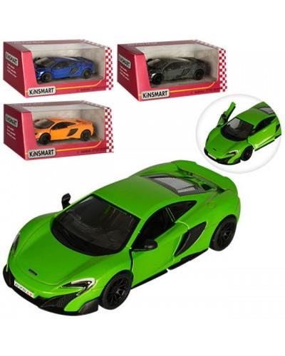 """Машина металл. """"KINSMART"""" KT5392W """"McLaren 675LT"""", в коробке 16*8*7см"""