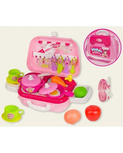 Набор Кухня 008-931A посудка, приборы, плита, в чемодане 25*9*18см
