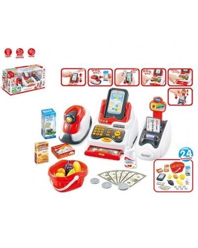 Кассовый аппарат 668-48 батар, свет-звук, сканер, деньги, продукты, в кор. 43*17*20,5 см