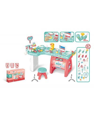 Набор Доктор 660-61 свет, звук, стол, стул, инструменты, в коробке 78,5*12,5*55 см