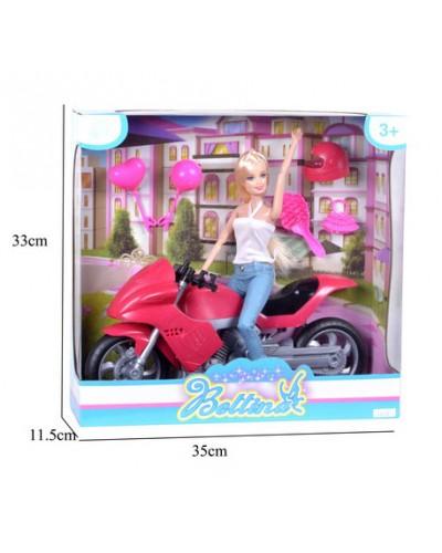"""Кукла типа """"Б"""" 68165 мотоцикл, аксессуары, в кор. 35*11*33см"""