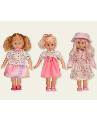 Кукла  8010A/B/C (1599035/36/37) 3 вида, кукла - 45см, в кор. 23,5*12*47см