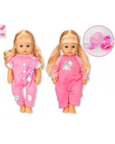 """Кукла функц. """"Сладкая малышка"""" 319009/5 (T13201/2) 2 вида, пьет-пис, можно купать, в кор. 23*11*37"""
