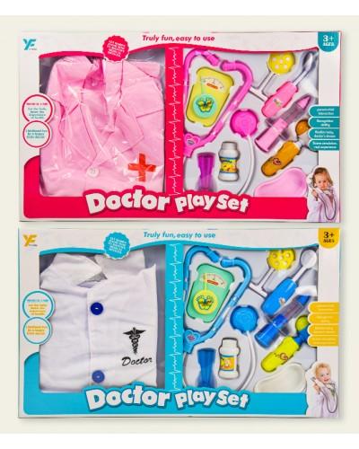 Доктор 9901-18/18A (1864994/5) 2 вида, халат доктора, стетоскоп, шприц, аксес, в кор.55*5,5*33см
