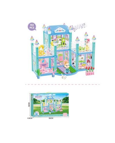 Домик 326-D3 свет, звук, 2 этажа, куколка, мебель, аксес., в кор. 50*6,5*32см