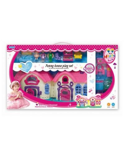 Домик SL32318 куколки, мебель, в кор. 72,5*45*7,5 см