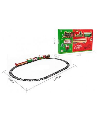 """Железная дорога """"MERRY CHRISTMAS"""" 238-7 батар., свет, звук, в коробке 68*44*7,5см"""