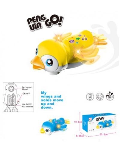 Интерактивное животное 696-53 Пингвин, 2 вида, батар., звук, свет,движение, в коробке 20*9*11см