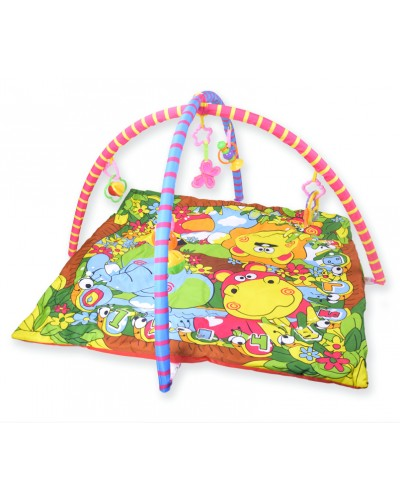 Коврик для малышей 818-2B с погремушками, в сумке 60*64cm